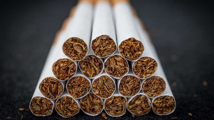 A close-up view of cigarettes