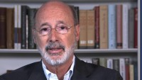 Pa. Gov. Tom Wolf Urges People Who Must Go Out to Cover Their Faces