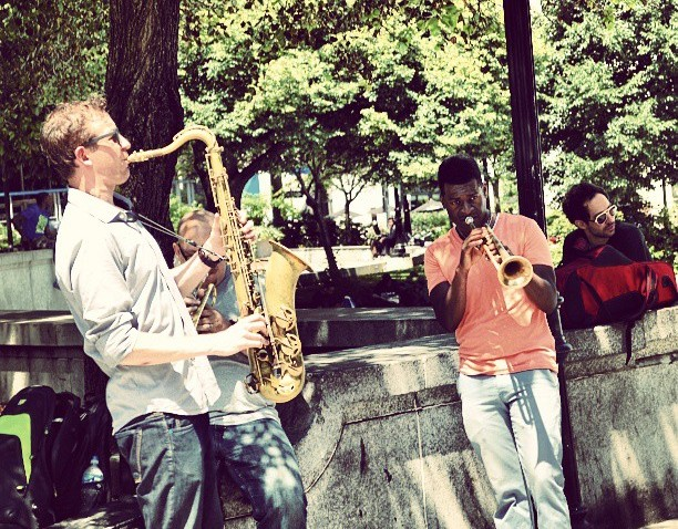 [phillygram] International Music Day #MakeMusicPhilly #igers_philly #phillygram #Philadelphia #Philly #saxaphone #trumpet #igers_philly_street #Music #streetperformers