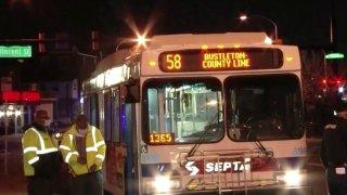 Route 58 SEPTA bus