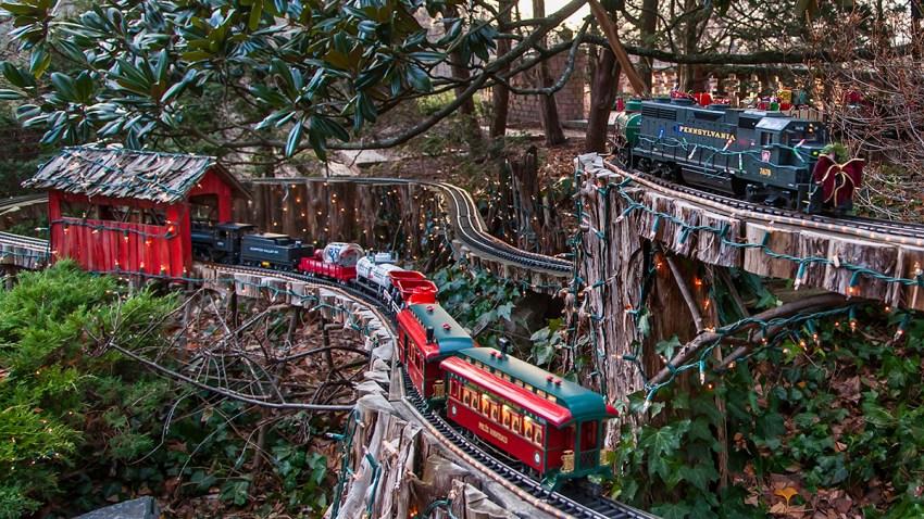Morris Arboretum Holiday Garden Railway
