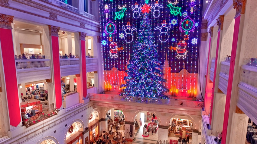 Christmas Light Show at Macy's in Center City