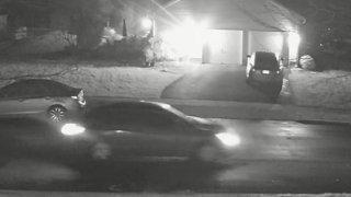 Surveillance image of a car