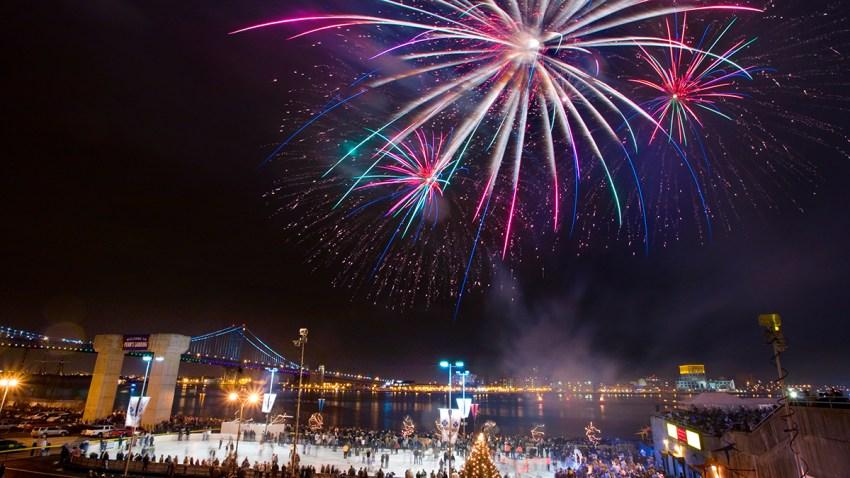 Fireworks over Penn's Landing