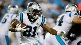 Picture of Elijah Holyfield in a Panthers uniform