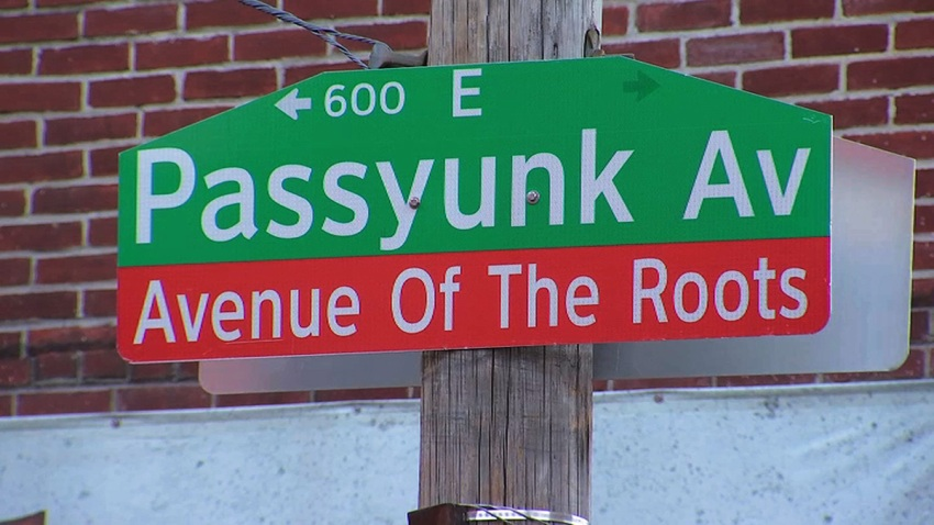 Street sign reading Avenue of The Roots