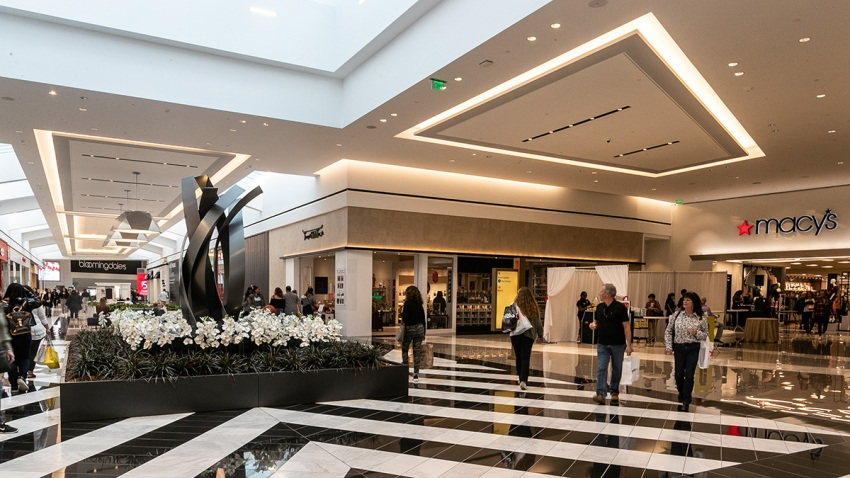 Shoppers walk through the King of Prussia mall in Montgomery County, Pennsylvania.