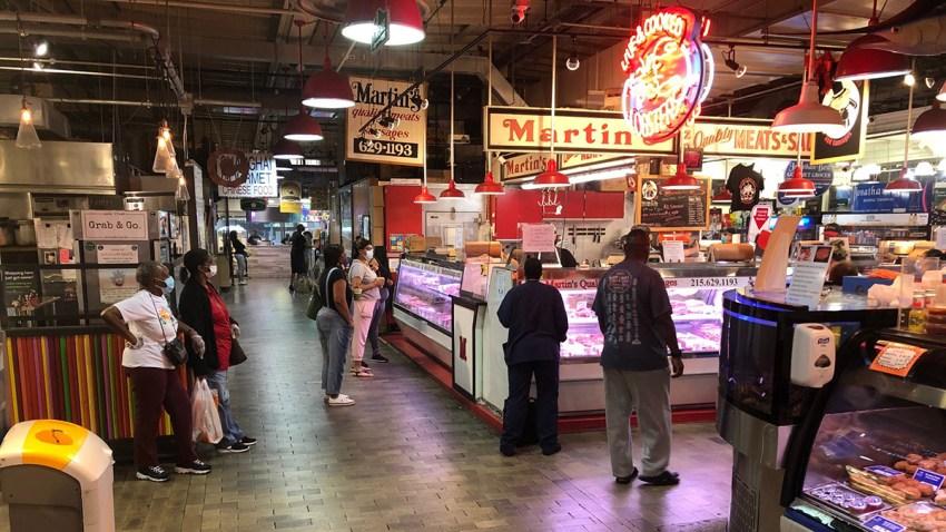 Shoppers at Reading Terminal Market in Philadelphia