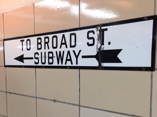 [phillygram] Accidentally discovered the Art Deco tunnels that connect the Broad street line and Patco today and I enjoyed all the porcelain signage #nofilter #february #patco #tunnel #underground #adventure #porcelain #sign #porcelainsign #philly #P