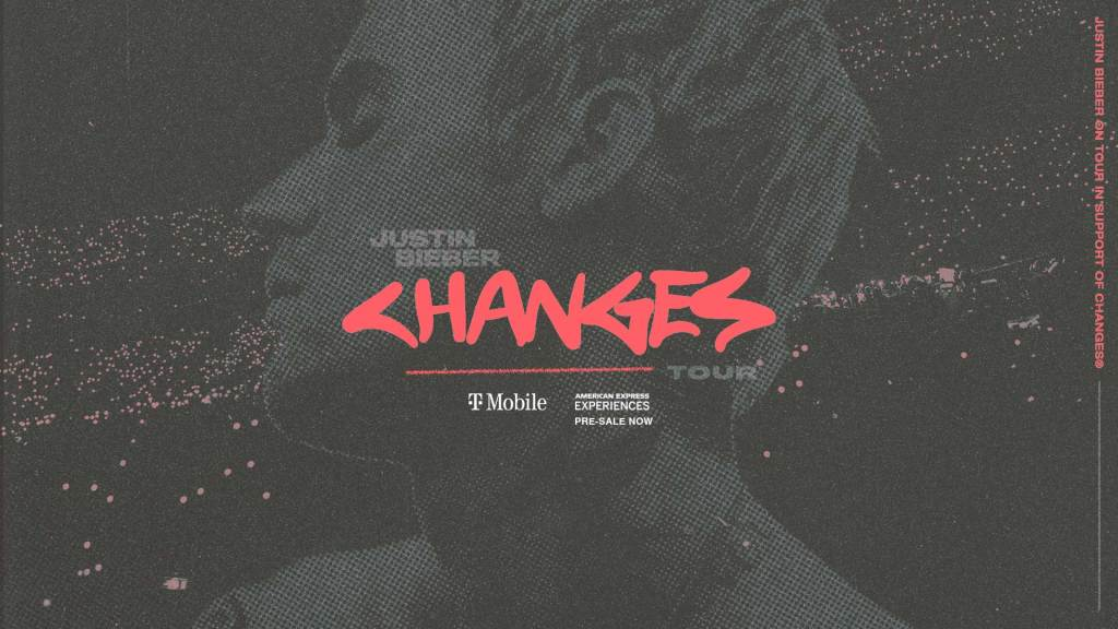 A flyer for Justin Bieber's Changes Tour.