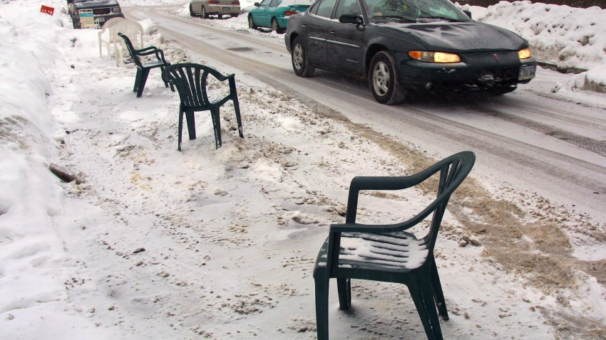 Chairs in Parking Spaces Lawn Chair