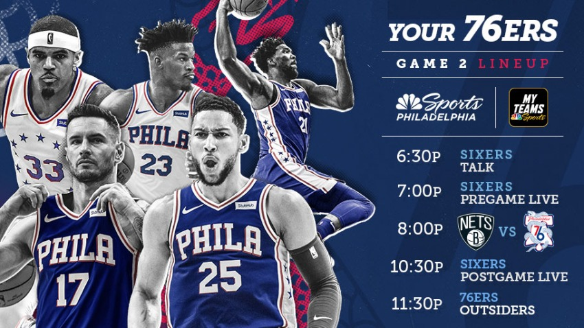 [CSNPhily] How to watch Sixers vs. Nets Game 2: Start time, TV, and live streaming info