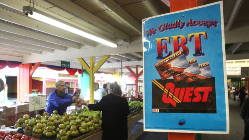 Farm Scene Markets Food Stamps