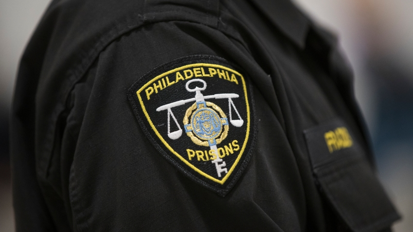 A Philadelphia correctional officer as seen at the Curran-Fromhold Correctional Facility in Philadelphia, Monday, Dec. 18, 2017.