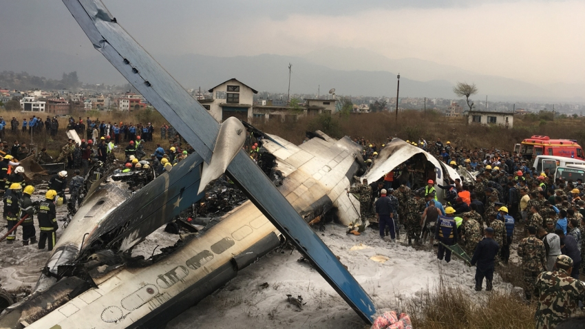 APTOPIX Nepal Plane Accident