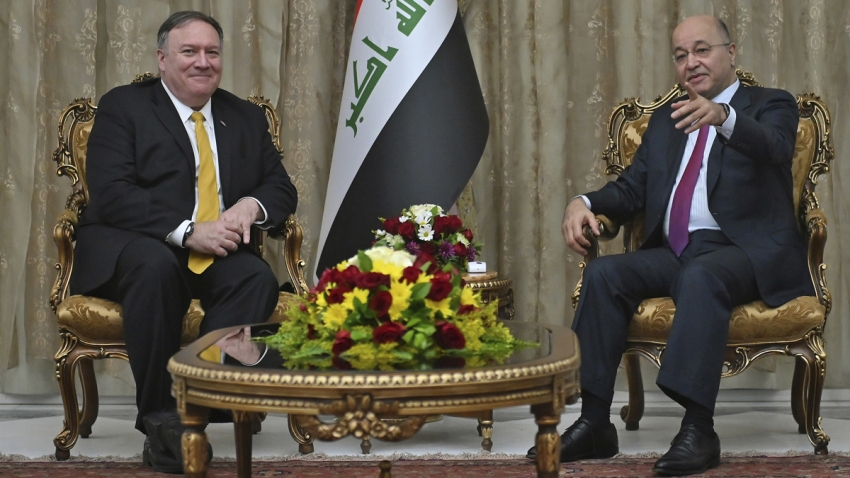 CORRECTION Iraq Pompeo
