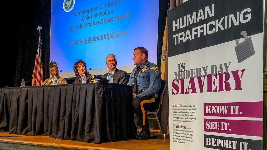 Panelists at the New Jersey attorney general's annual human trafficking awareness event