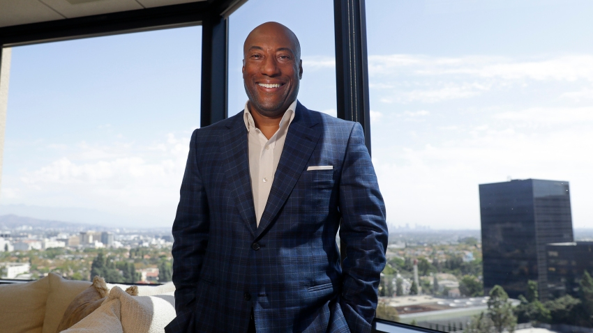 In this Sept. 5, 2019 file photo, comedian and media mogul Byron Allen poses for a picture Thursday, Sept. 5, 2019, in Los Angeles.