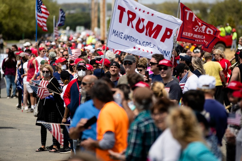 Trump Supporters Rally in Allentown, Pennsylvania