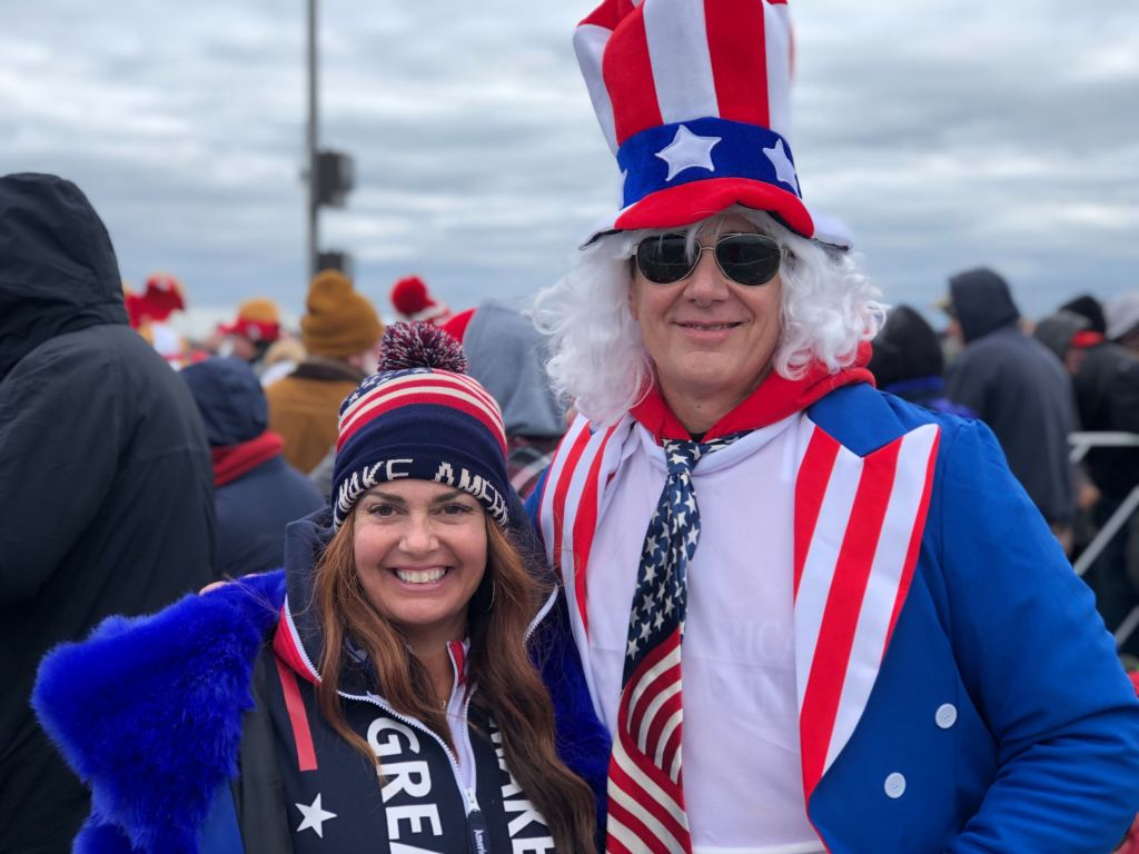 woman and man in USA gear