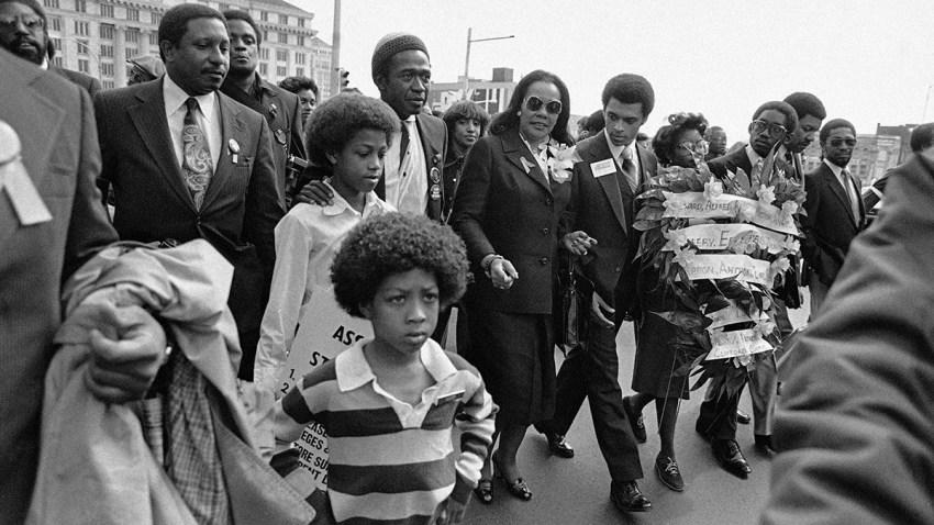 Coretta Scott King Leading March