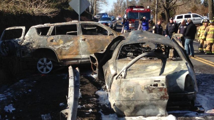 BUCKINGHAM car fire