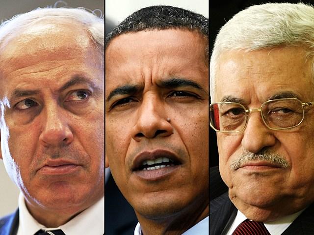 Barack Obama Mahmoud Abbas Benjamin Netanyahu