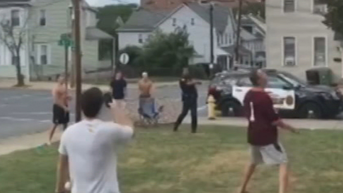 Video of Police Officer Hitting Home Run Goes Viral