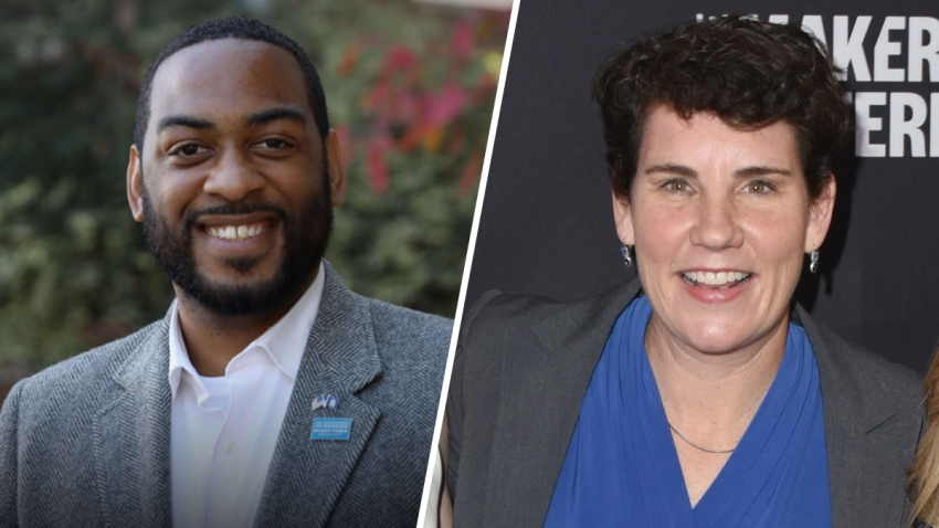 Charles Booker (left) and Amy McGrath (right).