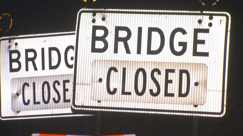 Bridge Closed Generic Bridge Street Sign