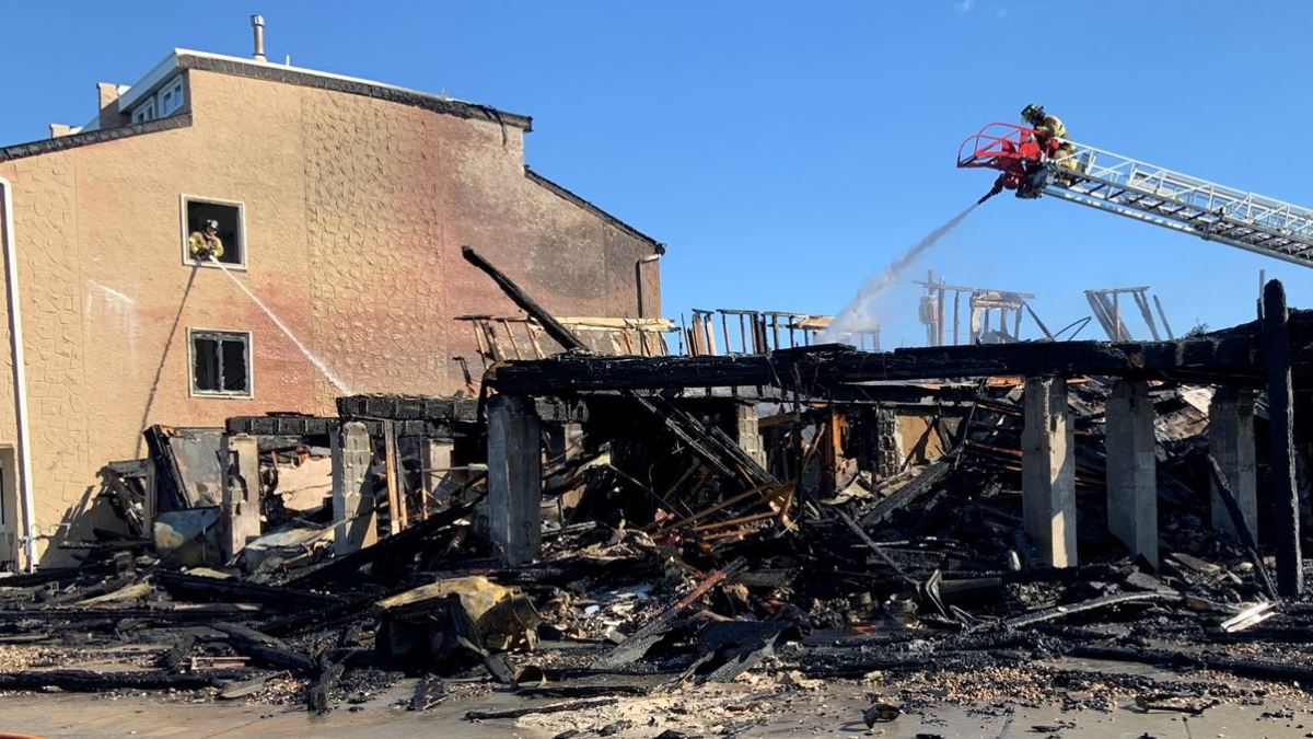 Firefighters Battle Wind and Flames as Blaze Guts Jersey Shore Condos