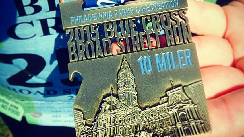 Broad Street Run Medal BSR 2015
