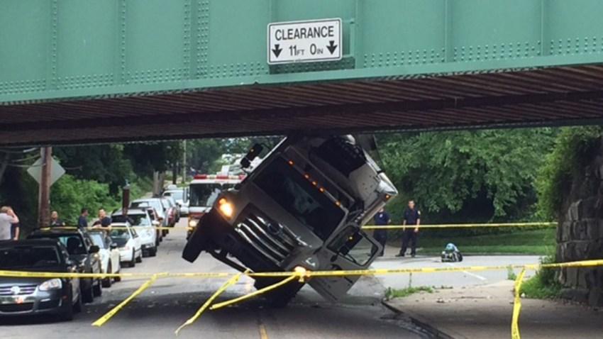 Carpenter Lane Emlen Street Philadelphia SEPTA Line Truck Crash