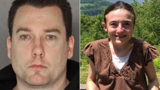 John Matthew Chapman, left, is accused of kidnapping 33-year-old Jaime Rae Feden, right.