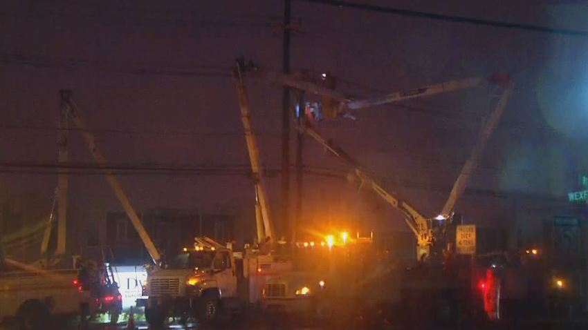Cherry Hill Route 70 Wires Down