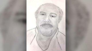 "Sketch of ""John Doe"" killed in Thanksgiving crash in Chester, Pennsylvania."