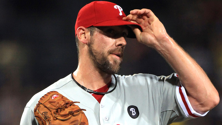 Cliff Lee Sweating Hat Tip