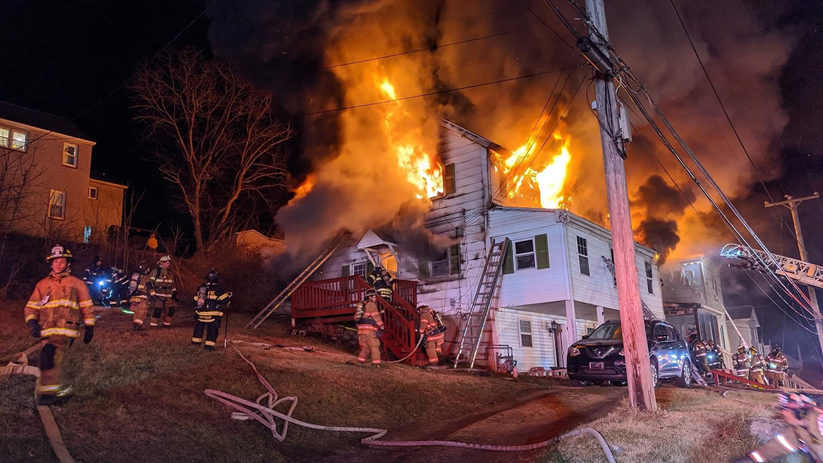 Firefighters Battle House Fire in Coatesville