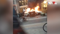 Police Cruiser Torched, Stores Looted in Center City