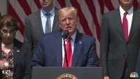 Trump: 'Hopefully George Is Looking Down Saying This Is a Great Thing That's Happening for Our Country'