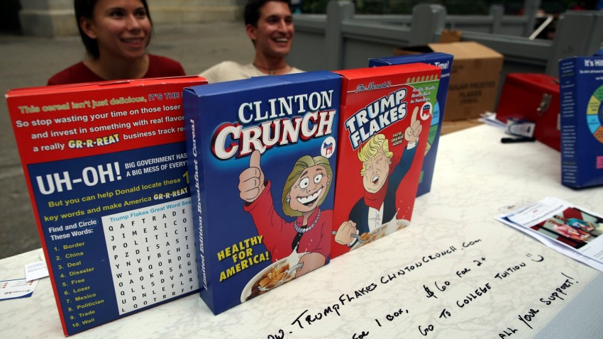 DNC Day 4 Presidential Candidate Cereal