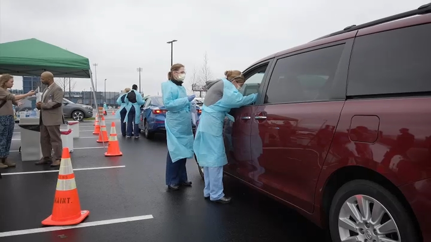 Nurses Testing for Coronovirus