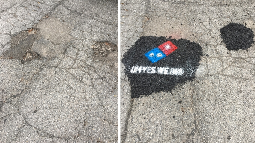 Dominos Pothole Milford Delaware