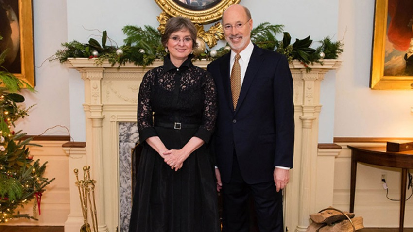 First Lady Frances Wolf Governor Tom Wolf