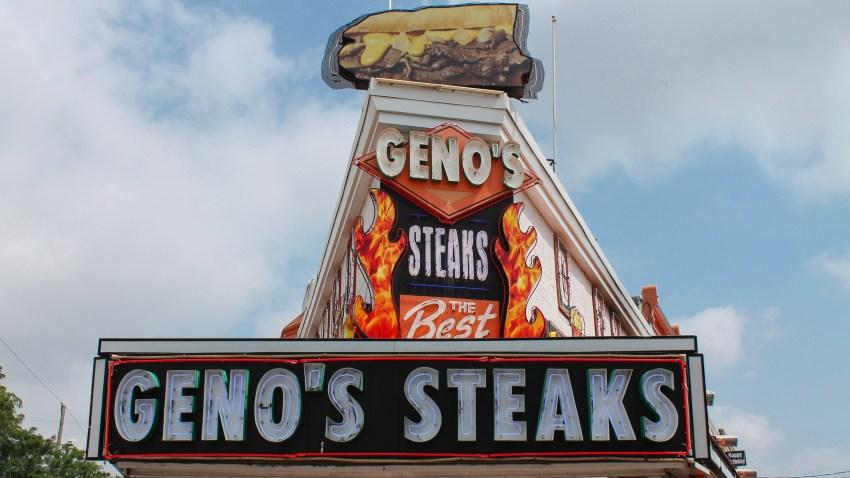 Geno's Steak sign