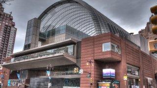 Entrance to the Kimmel Center in Philadelphia, Pa.