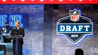 NFL Commissioner Roger Goodell speaks at the podium on day 1 of the 2019 NFL Draft on April 25, 2019 in Nashville, Tennessee.