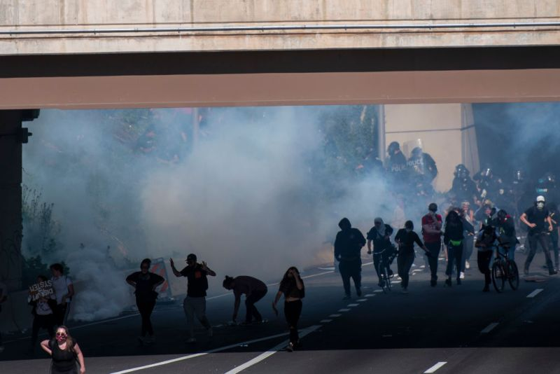 PHOTOS: Protesters Clash With Police on I-676