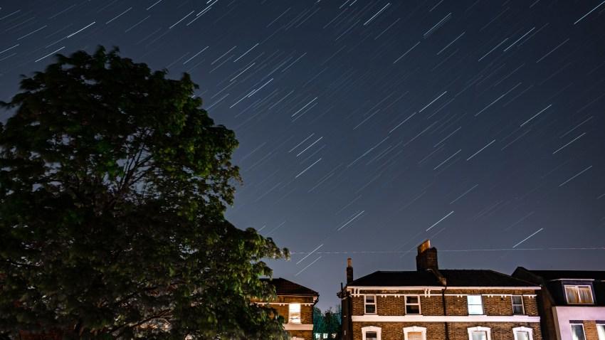 Stars illuminate the sky on a clear night in London