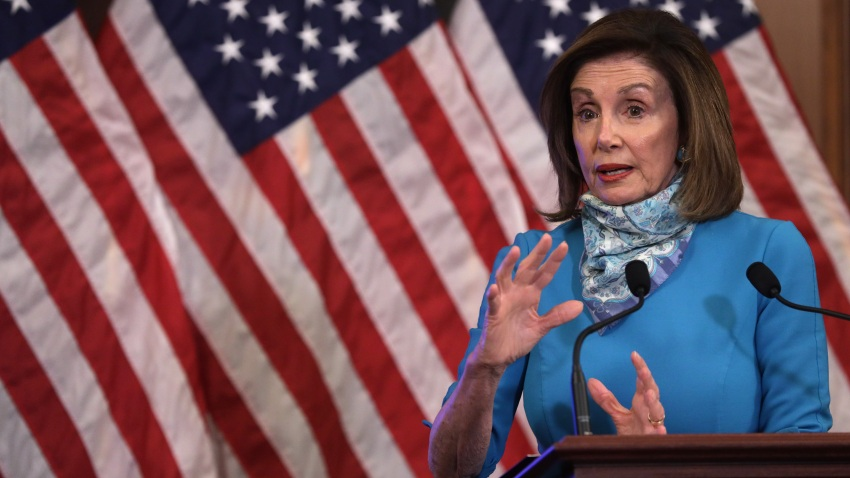 Speaker of the House Rep. Nancy Pelosi (D-CA) speaks during a weekly news conference at the U.S. Capitol May 7, 2020 in Washington, DC.